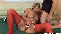 Granny and toyboy cougar
