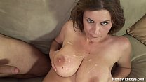 Sexy girls with big boobs getting titty fuck