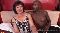 Interracial granny porn