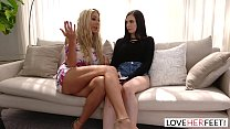 Lesbian remove panties to finger tube