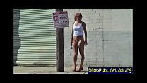 Open nudity writes sexy teen on the street